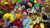 Des clowns lors de la conférence annuelle de l'Association mondiale des clowns, le 28 mars 2014 à Northbrook  près de Chicago [Derek R. Henkle / AFP]