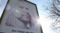Un panneau de Kurt Cobain Park à Aberdeen, Washington 1er avril 2014, près de la maison où Cobain vivait et a trouvé la mort  [Sebastian Vuagnat / AFP]