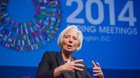 Christine Lagarde le 10 avril 2014 à Washington  [Stephen Jaffe / IMF/AFP]