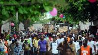 Des milliers de manifestants à Port-au-Prince le 5 juin 2014 exigent la tenue d'élections et la démission du président Michel Martelly [Hector Retamal / AFP]