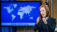 La porte-parole du département d'Etat Jen Psaki, le 16 juin 2014 à Washington [Paul J. Richards / AFP]