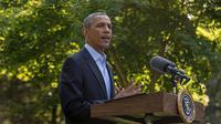 Le président américain Barack Obama donne une conférence de presse sur l'intervention en Irak le 11 août 2014 à Martha's Vineyard [Nicholas Kamm / AFP]