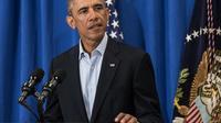Barack Obama le 20 août 201 à Martha's Vineyard dans le Massachusetts [Nicholas Kamm  / AFP/Archives]