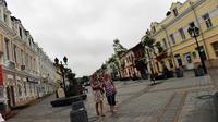 Ville hôte du sommet de l'Apec, Vladivostok, dans l'Extrême-Orient russe, a subi un lifting estimé à plus de vingt milliards de dollars, un méga-projet destiné à transformer cette ancienne cité militaire fermée en vitrine de la Russie sur le continent asiatique.[AFP]