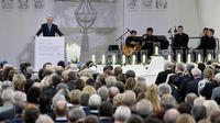 L'hommage aux onze athlètes israéliens tués en 1972 lors d'une prise d'otage par un commando palestinien aux jeux Olympiques de Munich, a démarré mercredi à Fürstenfeldbruck[AFP]