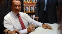 Arnold Schwarzenegger à la Foire du livre de Francfort, le 10 octobre 2012 [Johannes Eisele / AFP]