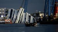 Epave du Costa Concordia, le 8 janvier 2013 sir l'île italienne de Giglio [Filippo Monteforte / AFP]