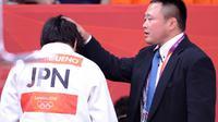 L'entraîneur des judokate japonaises Ryuji Sonoda lors des JO des Londres, le 31 juillet 2012