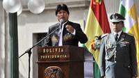 Le président socialiste bolivien Evo Morales à La Paz, le 14 février 2013 [Aizar Raldes / AFP/Archives]