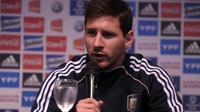 La start argentine Lionel Messi, le 21 mars 2013 à Ezeiza près de Buenos Aires [Alejandro Pagni / AFP]