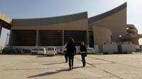 Vue partielle du Gymnase de Bagdad dessiné par Le Corbusier, le 12 avril 2012