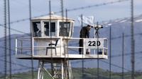 Un poste de contrôle tenu par les Casques bleus de l'ONU à Quneitra, dans la zone démilitarisée du Golan, le 8 mars 2013 [Jack Guez / AFP/Archives]