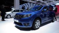 La Dacia Logan présentée au Mondial de l'automobile à Paris, le 28 septembre 2012 [Eric Piermont / AFP]