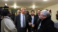 Harlem Désir, lors du vote pour le congrès du PS, le 11 octobre 2012 à Aulnay-sous-Bois, au nord de Paris [Kenzo Tribouillard / AFP]
