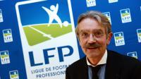Frédéric Thiriez, après sa réélection à la tête de la Ligue de football professionnel (LFP), le 12 octobre 2012 à Paris. [Franck Fife / AFP]