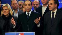 Jean-François Copé devant la presse après l'annonce de sa victoire par la Cocoe, à Paris, le 19 novembre 2012 [Mehdi Fedouach / AFP]