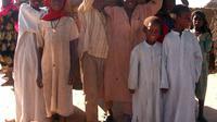 Des enfants faisant partie des 103 présumés orphelins que l'association l'Arche de Zoé avait tenté d'exfiltrer vers la France, le 20 octobre 2008 à Adre, au Tchad [Patrick Fort / AFP/Archives]