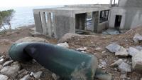 L'une des maisons visées par une série d'attentats en Corse, à Calvi, le 8 décembre 2012 [Pascal Pochard-Casabianca / AFP]