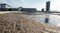 Du jus de choucroute en sédimentation dans la station d'épuration près de Krautergersheim, dans le Bas-Rhin, le 31 janvier 2013 [Frederick Florin / AFP]