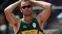 Oscar Pistorius aux Jeux de Londres, le 9 août 2012 [Franck Fife / AFP/Archives]