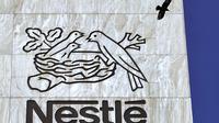 Le logo de Nestlé [Fabrice Coffrini / AFP]
