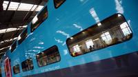 Le nouveau TGV à bas prix de la SNCF, baptisé Ouigo, le 19 février 2013 à Bischheim (est de la France) [Patrick Hertzog / AFP]