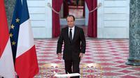 François Hollande lors de la signature du contrat entre Airbus et la compagnie Lion, le 18 mars 2013 à l'Elysée [Bertrand Langlois / AFP]