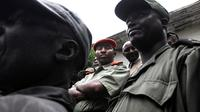 Le chef rebelle Bosco Ntaganda(c) le 24 janvier 2009 à Rutshuru, au nord de Goma en RDC [Lionel Healing / AFP]