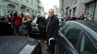 Le ministre chypriote des Finances, Michalis Sarris, à Moscou, le 20 mars 2013 [Alexander Nemenov / AFP]