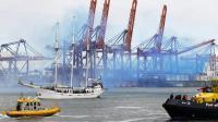 "L'extension ""Maasvlakte 2"" du port de Rotterdam, le 22 mai 2013 [Bas Czerwinski / ANP/AFP]"