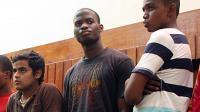 Michael Adebowale (c), l'un des deux auteurs présumés du meurtre d'un soldat britannique, le 23 novembre 2010 au Kenya [Michael Richards / AFP/Archives]
