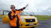 Gérard Lacroix, le 30 mai 2013, sur les pistes de l'aéroport de Roissy [Valentin Bontemps / AFP]
