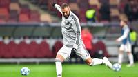 L'attaquant français du Real Madrid Karim Benzema lors d'un match contre le CSKA, le 2 octobre 2018 à Moscou [Mladen ANTONOV / AFP/Archives]