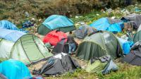 """Les tentes de migrants dans la """"Jungle"""" le 7 octobre 2015 à Calais [PHILIPPE HUGUEN / AFP]"""