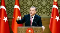 Le président Recep Tayyip Erdogan le 2 août à Ankara [KAYHAN OZER / TURKEY'S PRESIDENTIAL PRESS SERVICE/AFP/Archives]