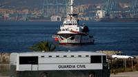 Le bateau de l'ONG Proactiva Open Arms arrive à Algésiras avec 87 migrants à bord, le 9 août 2018 [JORGE GUERRERO / AFP]