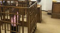 La jihadiste française Djamila Boutoutaou devant la Cour pénale centrale de Bagdad le 17 avril 2018 qui l'a condamnée à la perpétuité [Ammar Karim / AFP]
