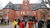 Le centre de détention à Schleswig, dans le nord de l'Allemagne,  où est détenu le leader catalan Carles Puigdemont, le 26 mars 2018  [Patrik STOLLARZ / AFP]