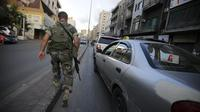 Un soldat libanais dans une rue de Beyrouth [Joseph Eid / AFP/Archives]
