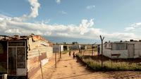 Le township de Tlhabologang à Coligny, dans le nord de l' Afrique du Sud, le 15 avril 2019 [LUCA SOLA / AFP]