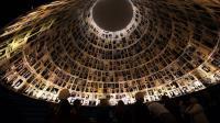 Des photos de victimes de l'Holocauste au mémorial de Yad Vashem à Jérusalem, le 26 janvier 2014  [Menahem Kahana / AFP/Archives]