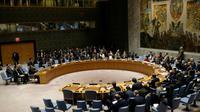 Réunion du Conseil de sécurité de l'ONU sur la Syrie, le 7 avril 2017 à New York [Jewel SAMAD / AFP/Archives]