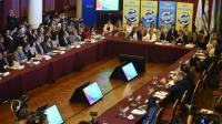 L'inauguration d'une réunion de ministres de la Santé d'Amérique latine, à Montevideo, le 3 février 2016 [PABLO PORCIUNCULA / AFP]