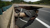 """""""Les travaux de réfection de l'A75 devraient se dérouler sur plusieurs semaines"""", annonce la préfecture de l'Hérault, le 13 septembre 2015."""