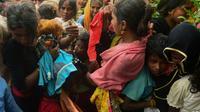 Des réfugiés, musulmans rohingyas dans le camp de Kutupalong au Bangladesh le 9 septembre 2017 [MUNIR UZ ZAMAN / AFP]