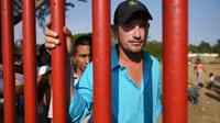 Des migrants de la caravane qui devait aller jusqu'aux Etats-Unis, le 4 avril 2018 dans l'Etat mexicain d'Oaxaca [VICTORIA RAZO / AFP]