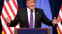 Donald Trump, le 23 février 2016 à Las Vegas [John GURZINSKI / AFP/Archives]