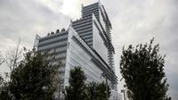 Le nouveau Palais de justice de Paris conçu par l'architecte italien Renzo Piano, le 26 mars 2018 dans le quartier des Batignolles, au nord-ouest de Paris [CHRISTOPHE ARCHAMBAULT / AFP]