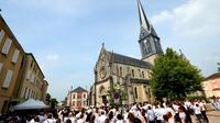 Obsèques de Kevin Chavatte, 17 ans à Mourmelon-le-Grand, le 8 juin 2018 [FRANCOIS NASCIMBENI / AFP]