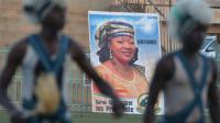Une affiche électorale à l'effigie de la candidate à la présidentielle burkinabé Saran Sere Sereme à Ouagadougou le 26 novembre 2015 [ISSOUF SANOGO / AFP/Archives]
